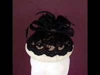 Edel Staunton Millinery Black Lace Beret